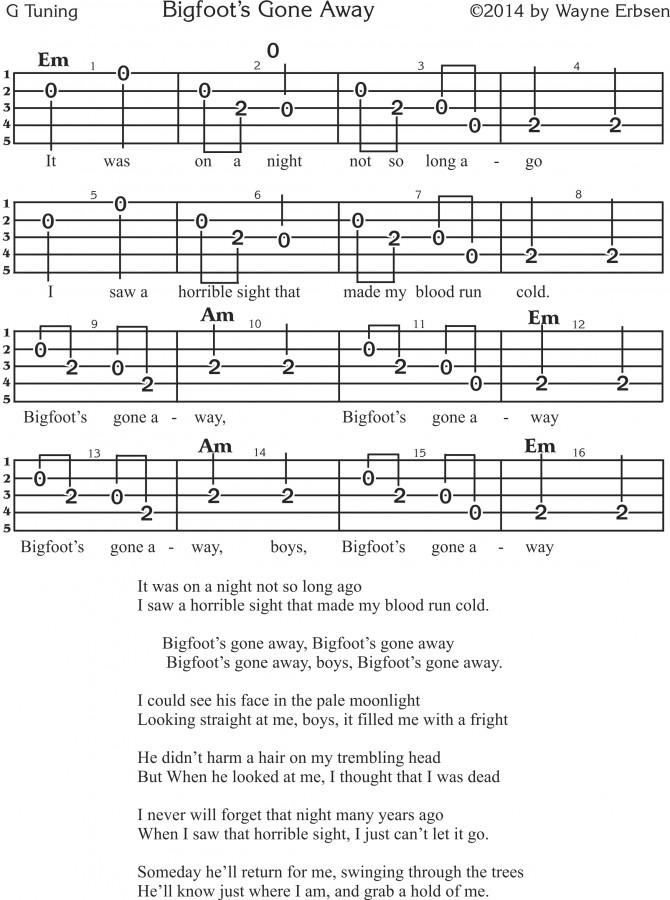 Bigfoot's Gone Away - Banjo Tab (3)