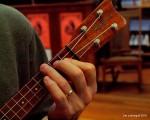 Playing the B-flat chord on the ukulele