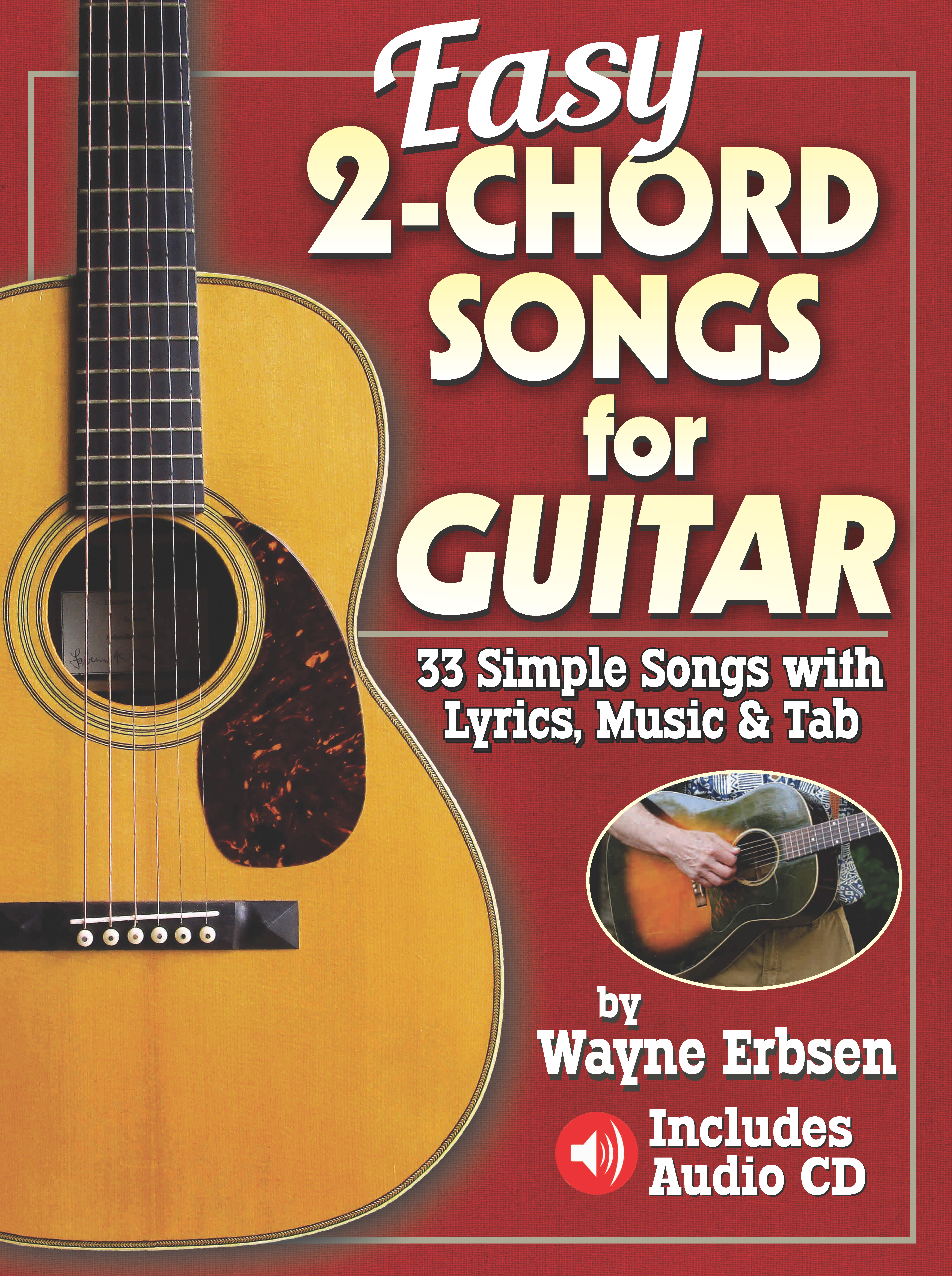 Easy 2-Chord Songs for Guitar (Book & CD set) - NEW!