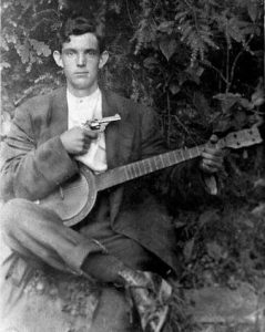 banjo player with gun