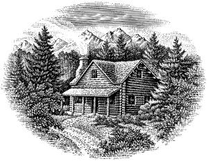 cabin illustration